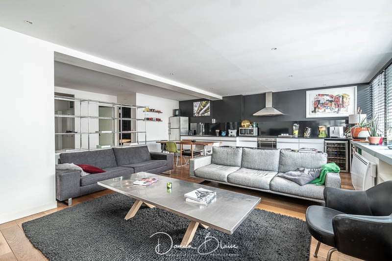 photographie immobiliere salon design moderne